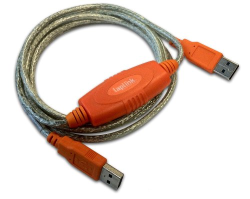 Laplink Software USB 2.0 Hochgeschwindigkeits-Transferkabel für PCmover, 1,8 m