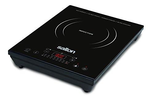 Salton Portable Induction Cooktop, 3.28 kg, Black