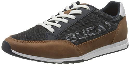 bugatti Herren 321A3A046950 Sneaker, Dunkelblau/Cognac, 44 EU
