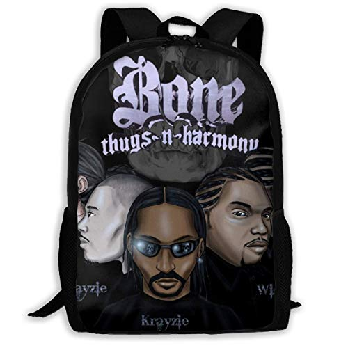 KDRW Bone Thugs n Harmony Students Backpack, Backpacks Durable Water Resistant School Bookbag Computer Bag Gifts for Students