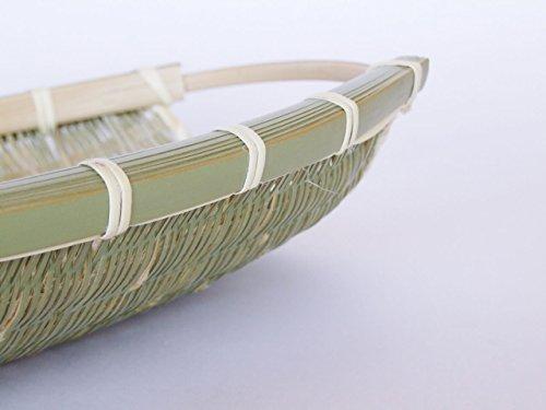 『富山県氷見の竹細工三尾のそうけ持ち手付楕円ざる』