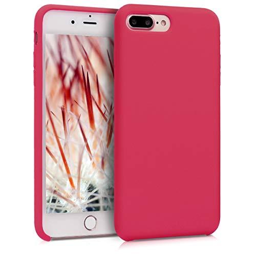 kwmobile Cover Compatibile con Apple iPhone 7 Plus   8 Plus - Cover Custodia in Silicone TPU - Back Case Protezione Cellulare Fucsia Ciliegia Rosso
