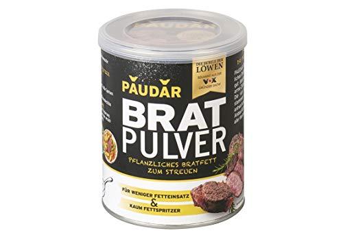 PAUDAR Bratpulver 1 x 125g | Vegan, leicht dosierbar | Reduziert Fettspritzer, fettarme Zubereitung von Fisch, Fleisch, Gemüse [Die Höhle der Löwen]