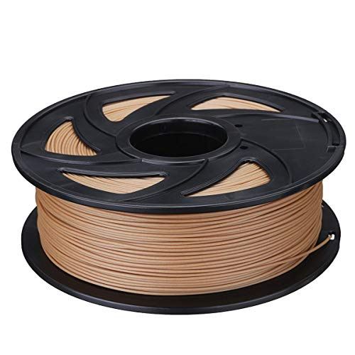 TONGDAUR Filament PLA Couleur Bois 1,75 mm 0,5 kg/1 kg pour imprimante 3D Matériaux d'impression 3D, 1 kg