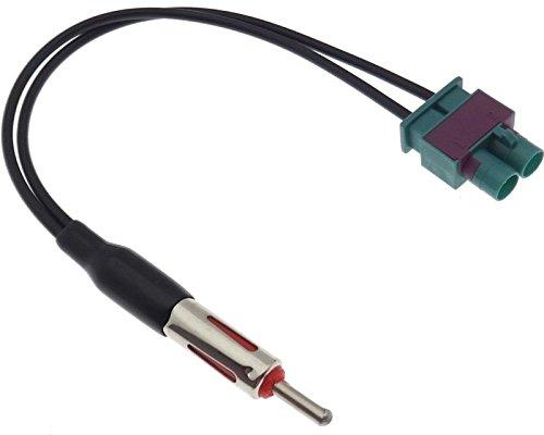 Adaptateur d'antenne DIN double Fakra - Répartiteur - Câble adaptateur - Compatible avec Seat Skoda VAG
