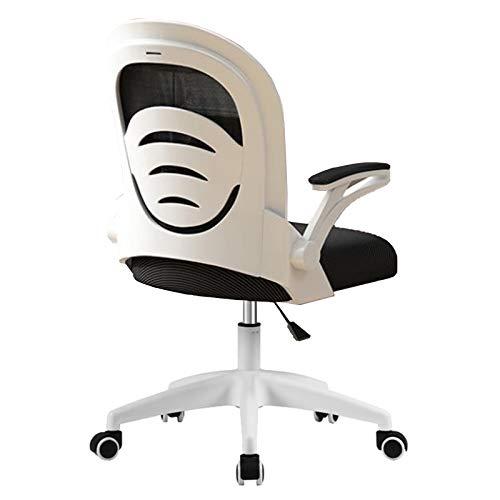 DLMYZ Silla Ergonómica De Oficina, Rueda Universal 360 °,Silla De Escritorio con Respaldo Inclinable 120 °,Blanco