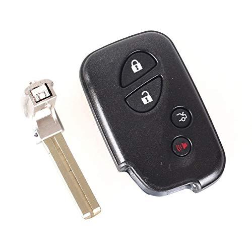 Carcasa de Repuesto con 4 Botones, Funda con Mando a Distancia Inteligente para Lexus GS430 ES350 GS350 LX570 IS350 RX350 IS250 + Llave en Blanco