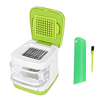 Wisekoti Updated Garlic Press&Peeler Set- Convenient Dicing and Slicing Chopper Masher & Crusher Mincer and Paste