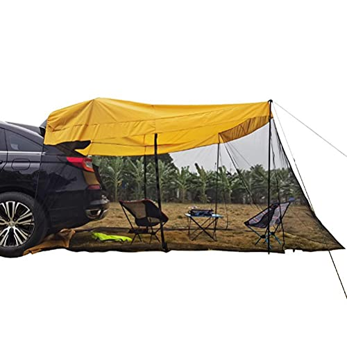 Facaimao Tienda de campaña para camping, 210T parasol impermeable con mosquitero, tiendas de campaña traseras para SUV todoterreno, MPV autos, se adapta a colchones 43