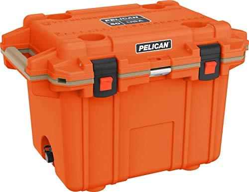 Pelican 50 Quart Elite Cooler (Orange/Tan)