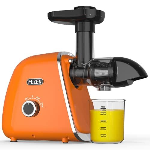 FEZEN Slow Juicer, centrifuga elettrica a freddo per verdure e frutta, motore silenzioso e retromarcia