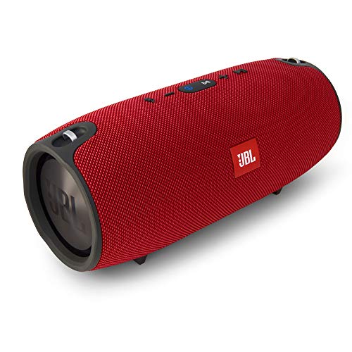 JBL Xtreme Spritzwasserfester Tragbarer Bluetooth Lautsprecher mit 10,000 mAh Akku, Dualem USB-Ladeanschluss und Freisprechfunktion - Rot