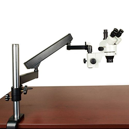 OMAX 3.5-90X Zoom Stereo Trinocular Microscope+Articulating Arm Stand