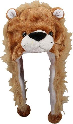Y-BOA - Bonnet/Chapeau Peluche Cache-Oreilles - Brun Lion- Adulte/ Enfant - Automne/Hiver- Déguisement