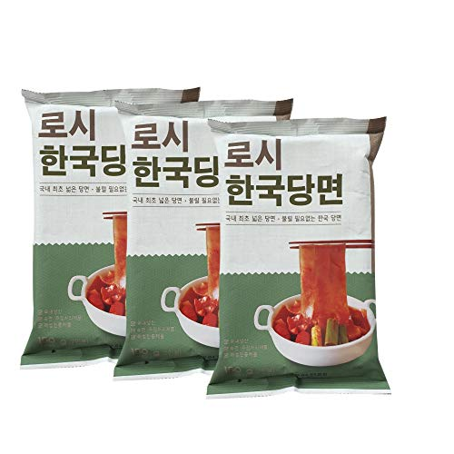 Rothy Korea Glass Noodle, Wide Chewy glass noodle 150g(5.2oz) per pack (3)