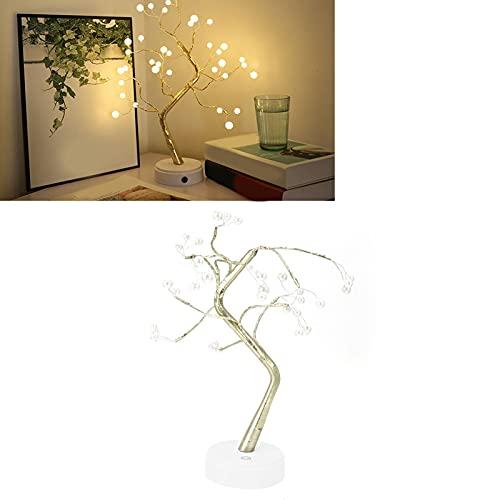 Lámpara de Forma de árbol, Luces de Ramas Flexibles de Mesa Artificial para Sala de Estar