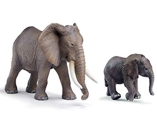 Wildlife - Schleich Afrikanischer Elefant und afrikanisches Elefantenbaby 14322 + 14341