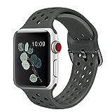 Watchband Bracelet enCaoutchouc Compatible pour Apple Watch 4 5 6 Se40Mm...
