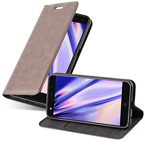 Cadorabo Hülle für ZTE Blade V7 in Kaffee BRAUN - Handyhülle mit Magnetverschluss, Standfunktion & Kartenfach - Hülle Cover Schutzhülle Etui Tasche Book Klapp Style