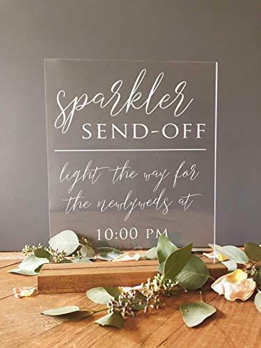 Wedding Sparkler Send Off Sign, Acrylic Wedding Sign, Acrylic Wedding Calligraphy Sign, Sparkler Send Off Acrylic Sign, Wedding Sparklers