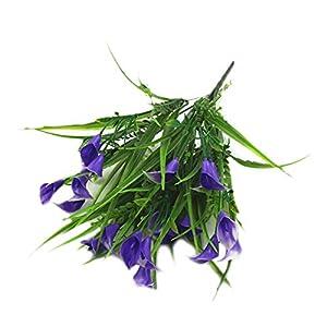 iTemer Planta de florero de simulación de plástico Falso Ramo de Flores de Color púrpura