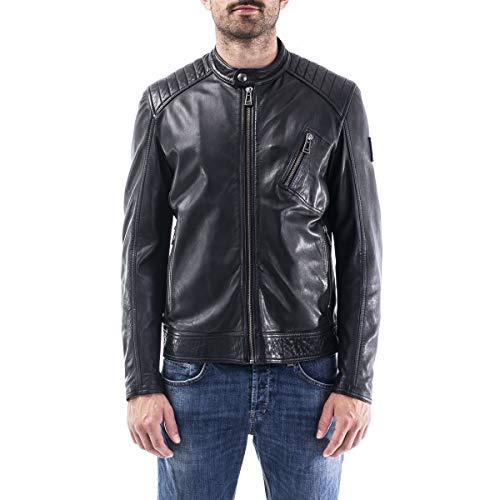 Belstaff Giacca Pelle Uomo cod.71020817 BLACK SIZE:52