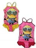 Costume da bagno per bambine MINIONS Rosa/giallo. 4 anni