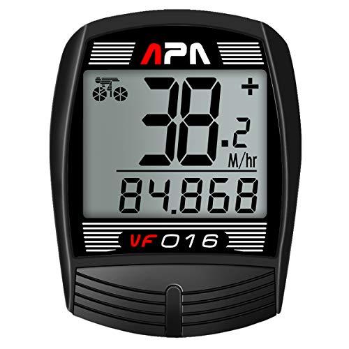 DREAM SPORT DreamSport Bike Computer Bicycle Speedometer and Odometer 16-function Wired Bike Computer Waterproof DCY016 Black