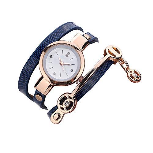 LK-HOME Damenuhr,für Freunde und Liebhaber Casual Fashion Armband Quarzuhr mit langem Wickelarmband,Sapphire