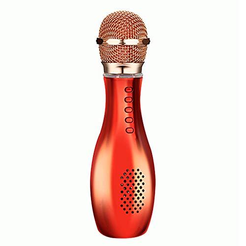 SanyaoDU Drahtloses Bluetooth-Karaoke-Mikrofon Für Das Bowling-Telefon, Buntes, Helles LED-Licht, Leicht Und Leicht Zu Transportieren, Geeignet Für Ktv-Familientreffen Usw,B