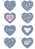 Exhibitor 40 Screen-Printed Patches Hearts Ironing - REF.6445-U40