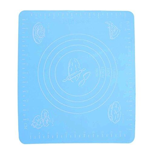 daiziyi - Alfombrilla de silicona de tamaño pequeño para masa de pastelería con escala, alfombrilla de masa grande, alfombrilla de silicona para rodar a base de pizza, resistente al calor