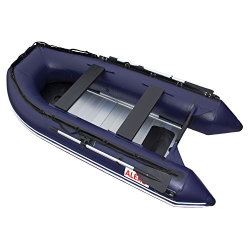 Buy Discount ALEKO BT420B 13.8 Foot Inflatable Boat with Aluminum Floor Heavy Duty Design 7 Person R...