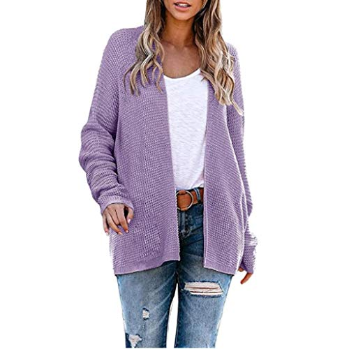 Lowest Prices! Dosoop Womens Open Front Cardigan Sweaters Long Sleeve Fuzzy Popcorn Loose Oversized ...