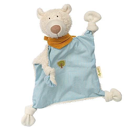 SIGIKID 38996 Schnuffeltuch Bär Green Mädchen und Jungen Babyspielzeug empfohlen ab Geburt blau