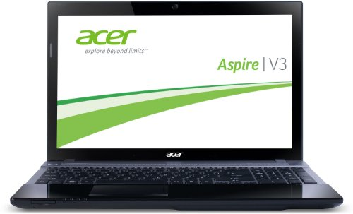Acer Aspire V3-571G-736b8G75Makk 39,6 cm (15,6 Zoll) Laptop (Intel Core i7 3630QM, 2,4GHz, 8GB RAM, 750GB HDD, NVIDIA GT 640M, DVD, Win 8) schwarz