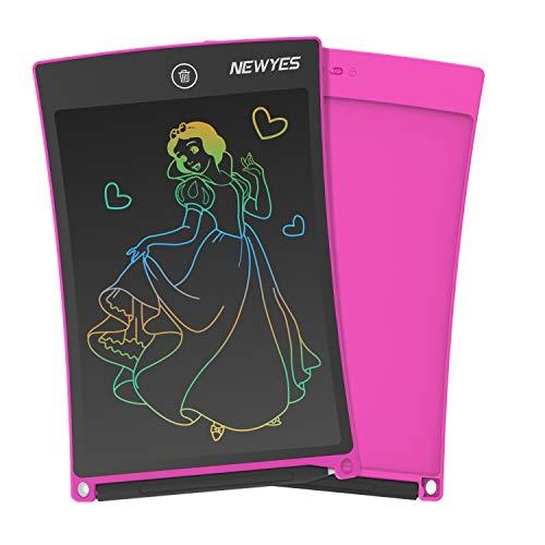 NEWYES Tableta de Escritura LCD a Color, Pizarra Digital, Tablet para Dibujar para Niños 8.5 Pulgadas (Rosa)