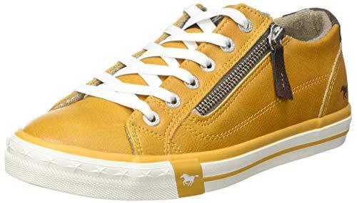 MUSTANG Damen 1146-302 Sneaker, 6 gelb, 39 EU