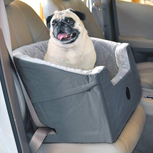 K&H Pet Products Bucket Booster Dog Car Seat Large Gray 14.5