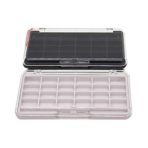 2 STÜCKE 24 Grids Leere Nachfüllbare Behälter Fall Make-Up Palette für Schönheit Kosmetische...