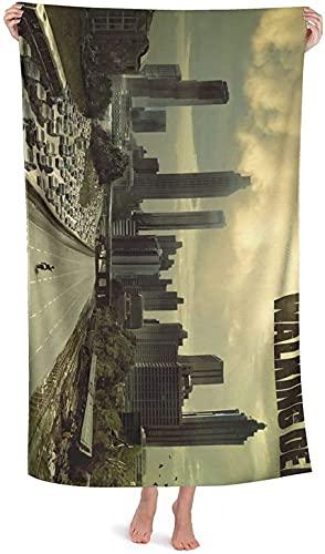 ZS-YD Toalla de playa The Walking Dead, impresión digital 3D, 100 % microfibra, fans de la película (3,100 x 180 cm)