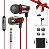 In-Ear Headphone High Definition Noise Isolating Earphones Pure Sound Wired Earbuds with Deep Bass & High Sensitivity Microphone for iPhone, Android Smartphones MP3 Players & all 3.5mm Audio Jack