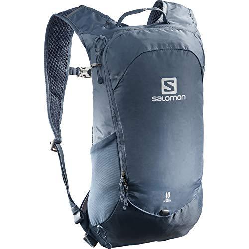 Salomon, Zaino multifunzionale Trailbalzer da 10 l, 3D Comfort e Sistema di idratazione, Per Escursionismo e Trail Running, Blu (Copen Blue)