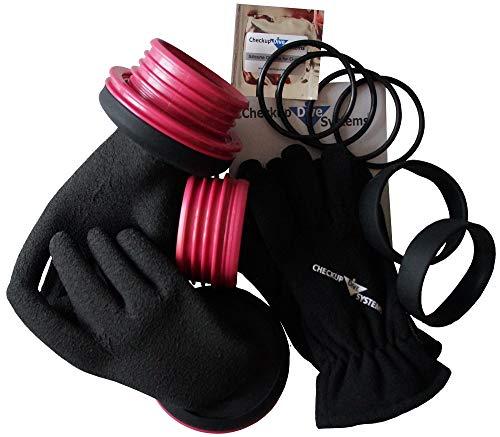 Checkup Dive Systems Unisex– Erwachsene Ring Set mit Handschuhe PRO, Pink, 85, 2XL