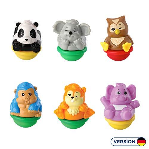 Vtech 80-439004 ZoomiZooz - 6er Set Wilde Tiere, Babytiere, Mehrfarbig