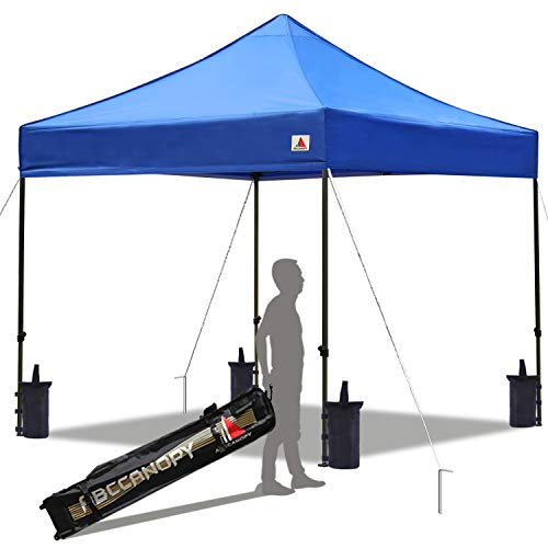 ABCCANOPY Pop up Canopy Tent Commercial Instant Shelter with Wheeled Carry Bag, 10x10 FT Blue