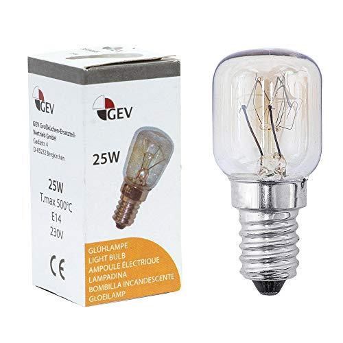 Glühlampe Glühbirne E14 25W 230V max. 500°