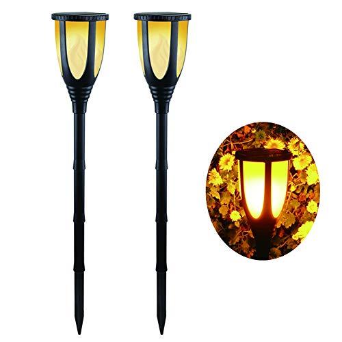 DJSDFHB Luz de Llama de la antorcha de simulación Solar Simple LED, Villa Impermeable al Aire Libre Patio jardín césped luz del Paisaje luz de la Vela luz del jardín del Paisaje (2)