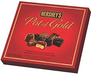 Hersheys Pot of Gold Premium Collection Assorted Milk & Dark Chocolates 10 oz Lot of 2