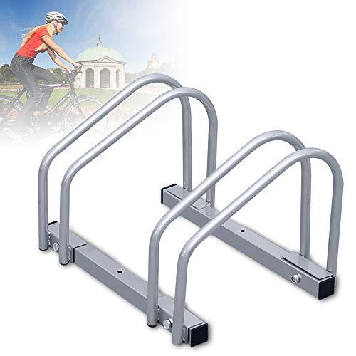 wolketon Fahrradständer für 2 Fahrräder, Stahl Verzinkt Fahrradständer Bügelparker Boden Wand Montage Mehrfachständer